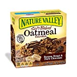 light oatmeal bread - Nature Valley Soft-Baked Oatmeal Squares, Banana Bread and Dark Chocolate, 6 Bars - 1.2 oz (Pack of 12)