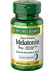 Nature\'s Bounty Melatonin 3 mg, 240 Quick Dissolve Tablets