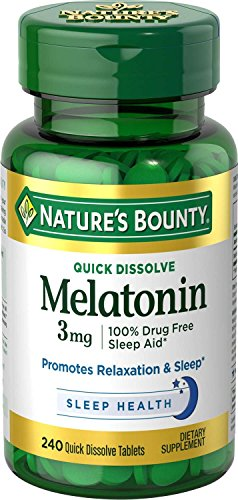 Nature's Bounty Melatonin 3 mg, 240 Quick Dissolve Tablets