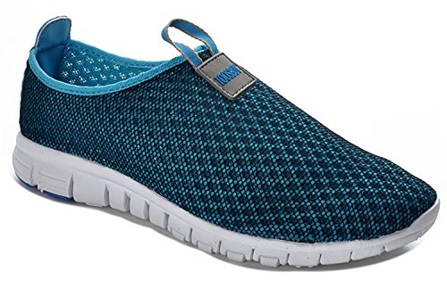 Adi Men & Women Breathable Mesh Running Sport Tennis Outdoor Shoes,Beach Aqua,Athletic,Exercise,Slip Wave EU40 Blue