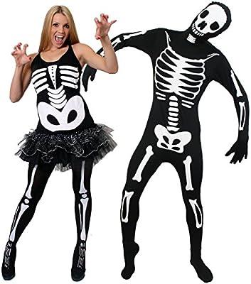 ILOVEFANCYDRESS - Disfraz de pareja de esqueletos para adultos ...