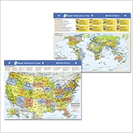 rand mcnally notebook world and u s map lam map edition