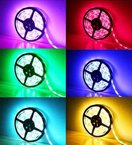 (Vovomay LED Strip Lights - Non Waterproof Led Tape Lights - 5M RGB 5050 LED Strip Light SMD 44 Key Remote 12V Supply Power for Home, Kitchen, Cabinet Decoration)