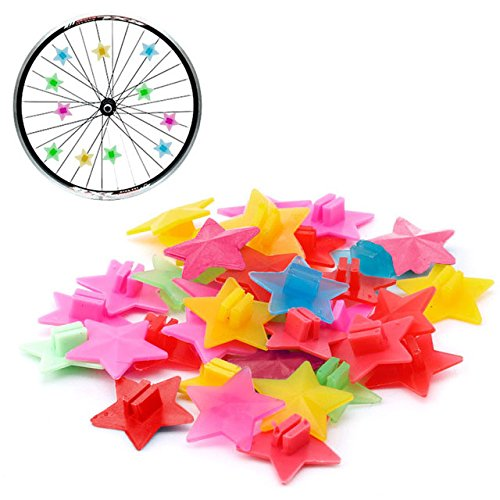 TOPCABIN Bike Wheel spokes 105 PCS With Different Designs Cute Biking Accessories for Kids Colorful Bicycle Spokes Decorations Cool Cycling Gear Gift for Girls Spoke Beads