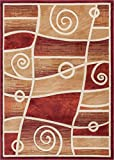 Well Woven BK-10-5 Bingo Dulcet Modern Area Rug, 5'3'' x 7'3'', Red