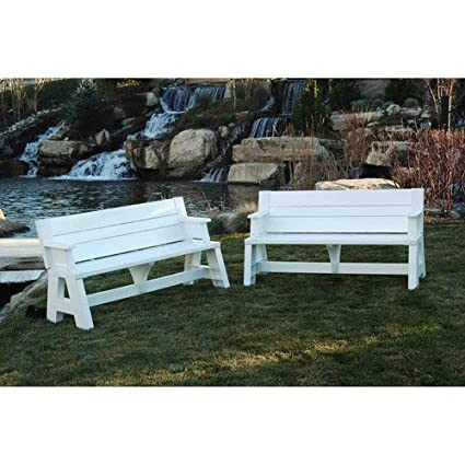 Outstanding Amazon Com Patio Convert A Bench Outdoor Bench And Picnic Evergreenethics Interior Chair Design Evergreenethicsorg