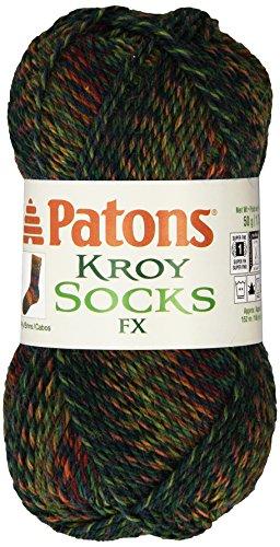 - Patons 243457-57242 Kroy Socks FX Yarn, Clover Colors