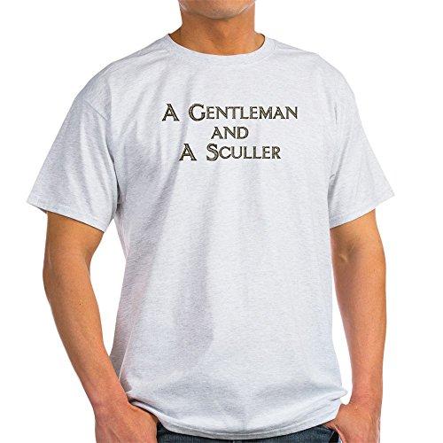 CafePress Gent. & Sculler Light T Shirt 100% Cotton T-Shirt Ash Grey