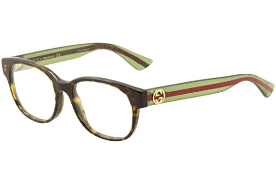 a7ce922fefd Amazon.com  Gucci - GG0040O Optical Frame ACETATE (Havana Green ...