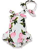 Genenic Baby Girls Backless Strap Romper...