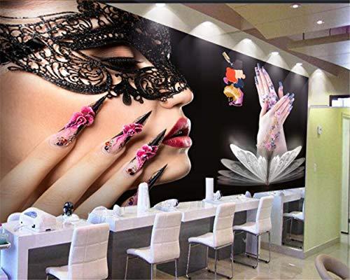 Hyf Wallpaper Wallpaper Mural Beauty Salon Nail Background Wallpaper 3D Wallpaper, 300210Cm