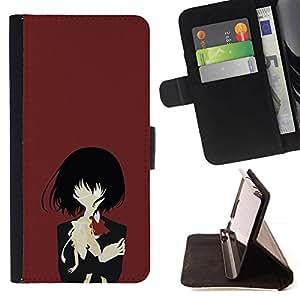 Momo Phone Case / Flip Funda de Cuero Case Cover - Una Eyed Girl;;;;;;;; - HTC Desire 626