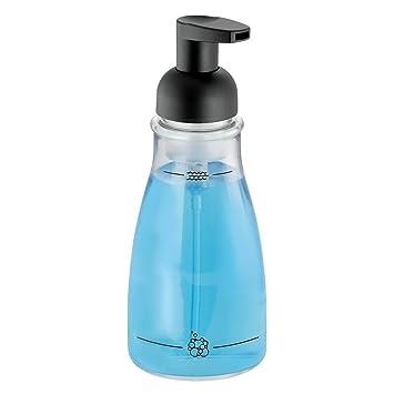 InterDesign - Dosificador de jabón-espuma, Transparente/Negro mate: Amazon.es: Hogar