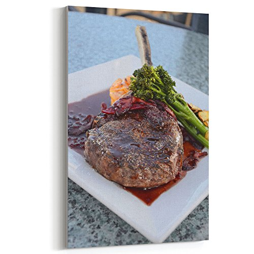 Roasting Standing Rib Roast - Westlake Art Canvas Print Wall Art - Barbecue Sauce on Canvas Stretched Gallery Wrap - Modern Picture Photography Artwork - Ready to Hang - 16x24in
