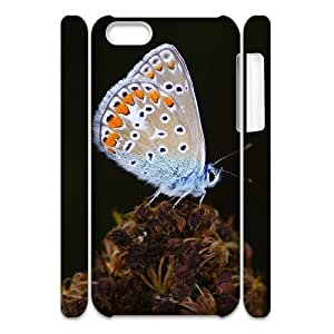 lintao diy Cell phone 3D Bumper Plastic Case Of Butterfly For iPhone 5C