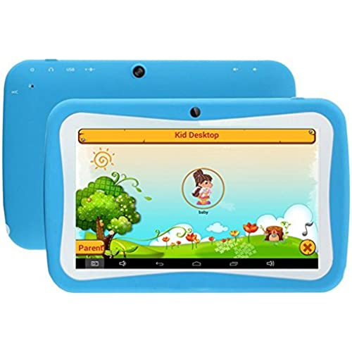 7 inch Kids Tablet PC RK3126 Quad Core 8G ROM Android 5.1 With Children Educational Apps Dual Camera PAD-Blue Coupons