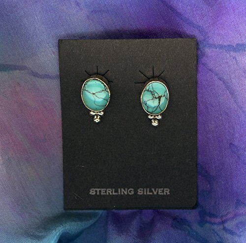South Western Jewelry Handmade Turquoise/Ss Approx.1/2