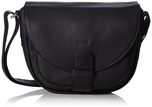 BREE 10909102 - Bolsa de Asa Superior de Cuero Mujer Negro (Black 909)