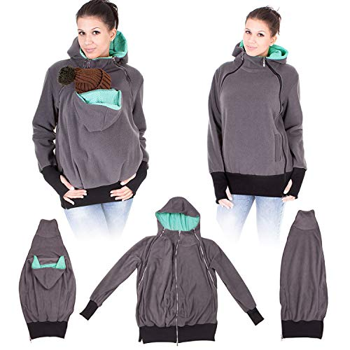 d9881d278ff NeuFashion Exclusive Double Thick Real Baby Carrier Hoodie Jacket Coat