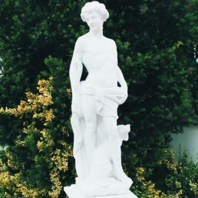 Cazador colourliving jardín Escultura mecanismo para jardín fabricado en hormigón piedra figuras de jardín-estatua de piedra: Amazon.es: Hogar