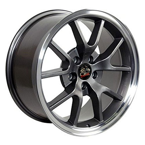 Anthracite Wheel 18x9 FR500 Style w/Machined Lip for 1994-2004 Ford Mustang