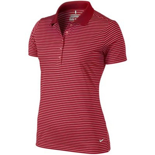 7b2eeb7b Nike Golf Women's Victory Stripe Polo (X-Small, Varsity Red/White)