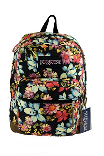 [Jansport Right Pack Expressions Daypack Backpack - Multi Garden Delight - One Size] (Suede Utility Bag)