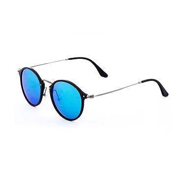 WYYY Sonnenbrillen Fahrbrille Ms. Klassisch Retro Große Grenze Polarisiertes Licht Reflektierend Dekoration Sonnenschutz Anti-UVA UV-Schutz 100% (Farbe : Black+Purple) 7qICdgwy