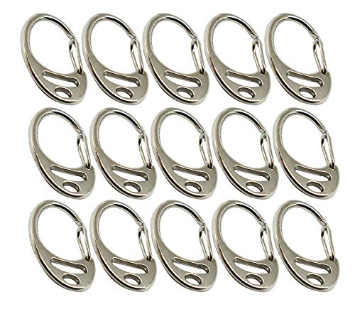 - Bytiyar 15 pcs Small Metal Carabiner Clips Spring Backpack Clasps Wire Gate Snap Hooks Keychain Buckle Paracord Accessories, Silver