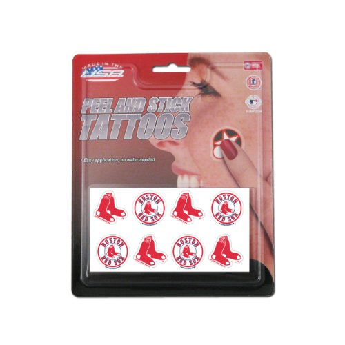 Rico MLB Boston Red Sox Products MLB Temporary Tattoos Boston Red Sox, Black, Small by Rico (Image #1)