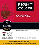 Eight O'Clock Coffee The Original Keurig Single-Serve K-Cup Pods, Medium Roast Coffee, 72 Count (6 Boxes of 12 Pods)