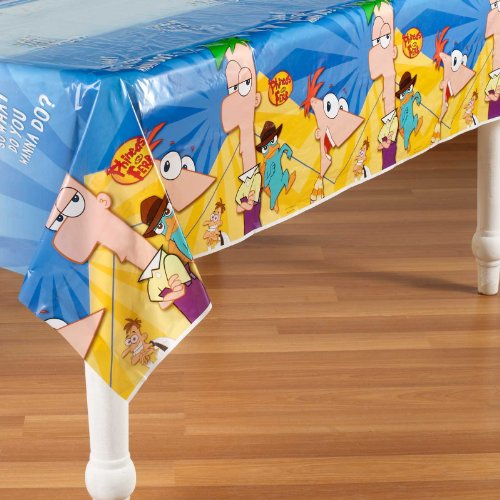 Phineas And Ferb Plastic Table Cover (1ct) ()