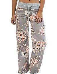 Women's Summer Casual Pajama Pants Floral Print...