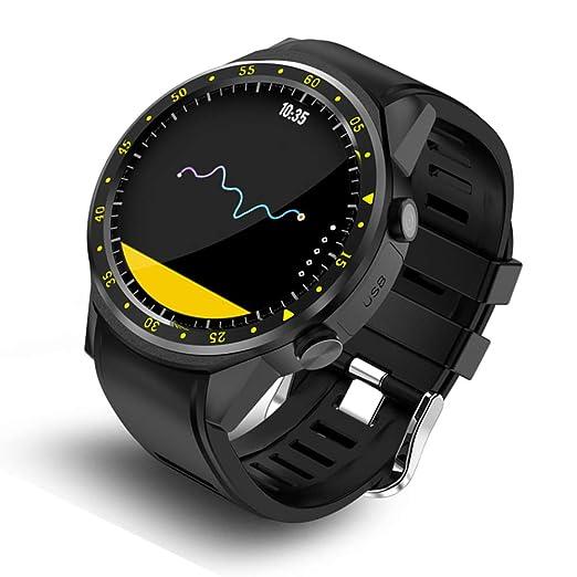 Relojes Inteligente GPS Deportivo con Doble Cámara 1.3 Pantalla Táctil Fitness Tracker Pulsómetro Monitor De Sueño
