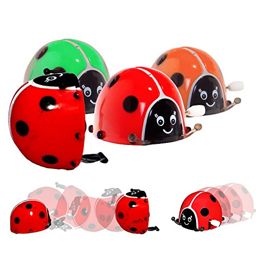 Toy Cubby Wind-Up Colorful Flipping Bugs - 6 pieces