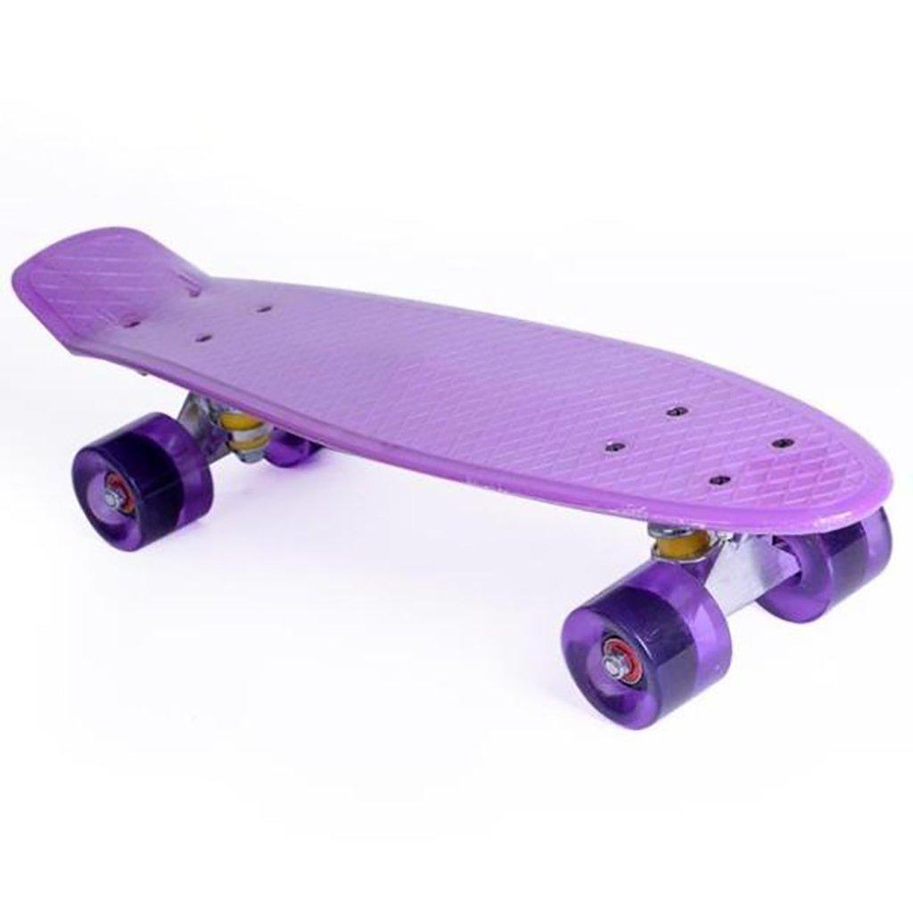 YONGLIANG 屋外の魚の形のスケートボードの子供の大人のPUラウンド厚いプラスチック耐摩耗性のフラッシュ (色 : Purple 青) B07BSHGBYC : Purple B07BSHGBYC Purple, 彫姫工房:7b5ef4c0 --- integralved.hu