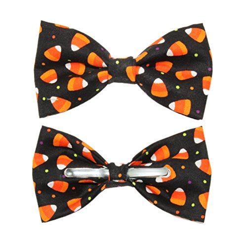 Men's Candy Corn Clip On Cotton Novelty Bow Tie amy2004marie