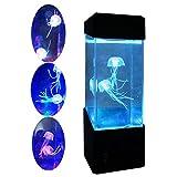 Jellyfish Lamp Electric Jellyfish tank Aquarium - LED Fantasy Jellyfish Lamp Color Changing Mood Lamp - Home Decoration Magic Lamp for Gift (Multi-color)