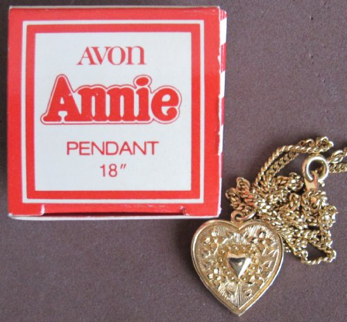 - AVON Little Orphan ANNIE HEART Shape PENDANT & CHAIN Necklace 18