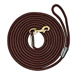 LOVELY Leash Nylon Long Leads Rope Pet Training Walking Leashes For Medium Large Dogs Coffee 20m