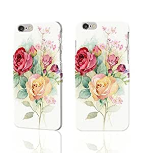 """Hand-painted roses design 3D Rough iphone 6 -4.7 inches Case Skin, fashion design image custom iPhone 6 - 4.7 inches , durable iphone 6 hard 3D case cover for iphone 6 (4.7""""), Case New Design By Codystore"""