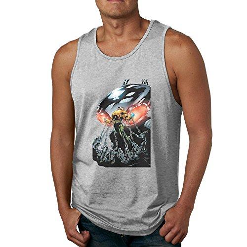 [Black Manta Strong - POY-SAIN Fashion Men's Adults Tank Top Sleeveless SizeXXL Ash] (Lightning Strike Costume)