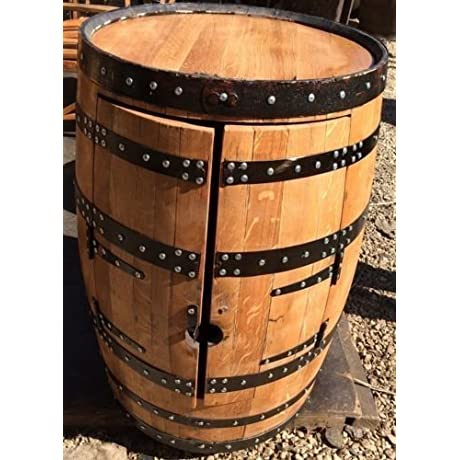 Recycled Solid Oak Whisky Barrel Alfie Drinks Cabinet