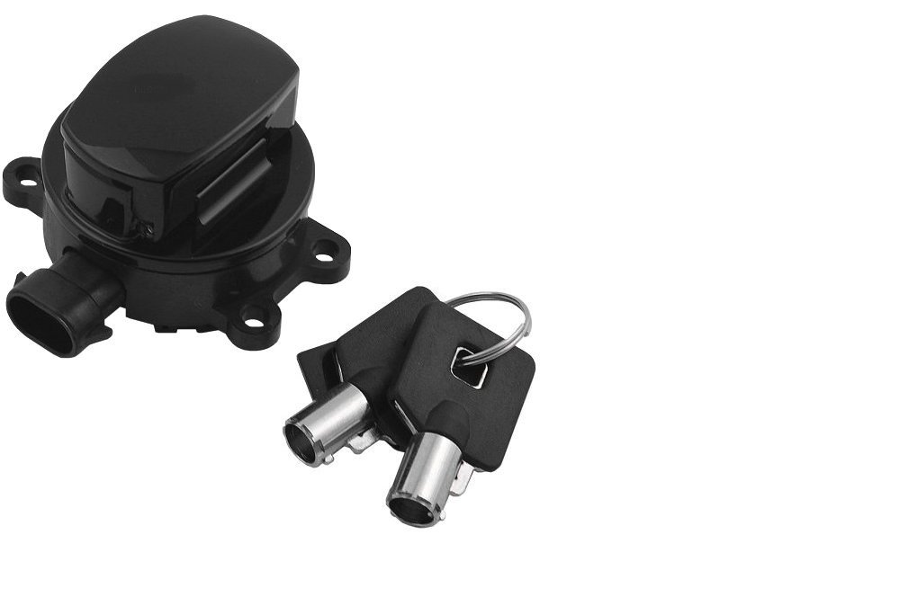 Orange Cycle Parts Black Side Hinge Ignition Switch For Harley 2011-2017 Replaces # 71517-11