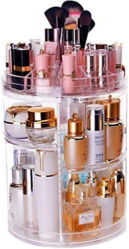 Lx-Top 360 Grados Giratorio Organizador de Maquillaje Más Grueso Almacenamiento de cosméticos Mejorado Y Novela Diseño Gran Capacidad con 6 Capas Ajustables Regalo de Bricolaje: Amazon.es: Hogar