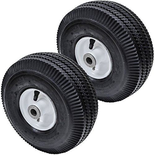 Replaces Toro 2PK Flat Free Front Wheel Tire for Toro Time Cutter Z 4.10/3.50-4 105-3471