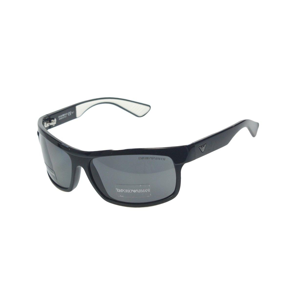 b10fd231b7b5 Emporio Armani Men s 9780 Shiny Black Frame Grey Polarized Lens Plastic  Sunglasses  Amazon.co.uk  Clothing