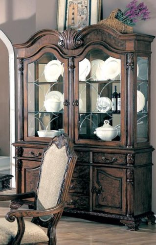 Coaster 100134 Dining Buffet And Hutch China Cabinet Deep Brown (Ash China Cabinet)