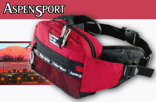 AspenSport Hüfttasche Travel, rot, 25 x 18 x 8 cm, 30 Liter, AB04K01