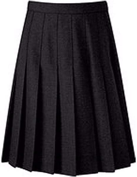 Girls Uniform Skirt Kids Plain Midi Skater School Wear Elasticated Waist Fashion